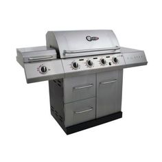 Char-Broil, Gourmet TRU-Infrared Propane Gas Grill with Side Burner, 463251913 at The Home Depot - Mobile Propane Gas Grill, Fish And Chicken, Outside Living, Cabinet Doors, Kitchen Gadgets, Cast Iron, Cool Things To Buy, Grilling, Backyard