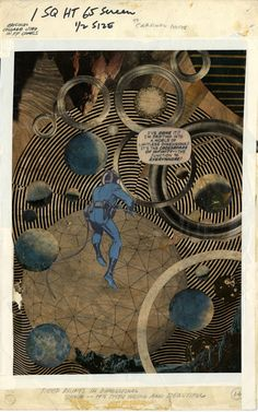 Reed drifts in dimensional space — It's both weird and beautiful  Jack Kirby for Fantastic Four #51 via Jack Kirby's Collages in Context — Imprint