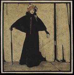William Nicholson, Sarah Bernhardt in character for the production La Dame aux Camelias, 1910 William Nicholson, Printmaking, Vintage Art, Art Prints, Drawings, Illustration, Painting, Fictional Characters, Portraits
