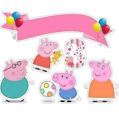 Ariane Carvalho's media content and analytics Pig Birthday, Happy Birthday, Birthday Parties, Bolo Laura, Bolo Da Peppa Pig, Aniversario Peppa Pig, George Pig, Girl Cakes, Party Printables