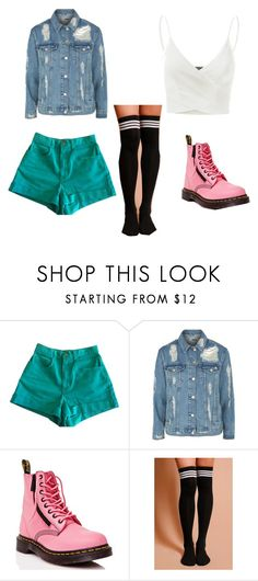 """Sky blue"" by parveneh-shir-del on Polyvore featuring American Apparel, Topshop, Dr. Martens and Doublju"