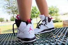 Air Jordans Pink White Shoes Swag Girls