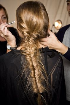 Perfectly undone fishtail braid