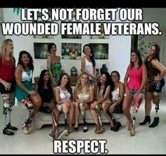 "southernraisedmarinecorpsmade: ""Just gonna say this is actually the first picture I've actually seen of wounded female veterans. Now that I think about it they are (in my eyes at least) hugely. Military Women, Military Life, Military Soldier, Military Dogs, Army Life, Military Veterans, Military History, My Champion, Military Humor"
