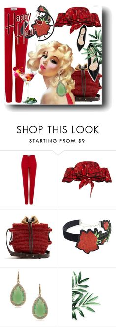 """""""Bottoms Up: Happy Hour"""" by kari-c ❤ liked on Polyvore featuring Loewe, Johanna Ortiz, Khokho, WithChic, ABS by Allen Schwartz and happyhour"""