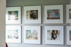 These photographs were taken by Athena's friend, Nicole Feest. Such a large open wall in a room where Athena spends a significant amount of time deserves something special. The frames are from IKEA.