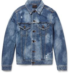 Shop men's coats and jackets at MR PORTER, the men's style destination. Discover our selection of over 400 designers to find your perfect look. Distressed Leather Jacket, Men's Coats And Jackets, Slim Jeans, Blue Denim, Man Shop, Mens Fashion, Saint Laurent, Designer Menswear, Clothes