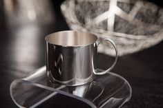 Handcrafted silver baby gifts silver baby rattle silver baby haislip in her downtown charleston sc studio this silver baby cup makes a wonderful heirloom baby gift or christening gift it can be personalized negle Images