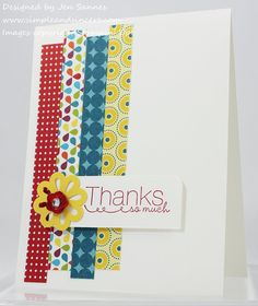 She designed such a beautiful card!  I always save my scraps.    Thanks so much