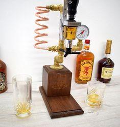 Whiskey Dispenser Liquor Gin Wine Alcohol mini Bar. | Etsy Whiskey Dispenser, Alcohol Dispenser, Copper Art, Copper Pipes, Garden Bar, Bourbon, Gin, Make It Simple, Liquor