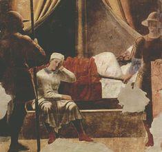 Piero della Francesca, Constantine's Dream, c. 1455, fresco, 329 x 190 cm, San Francesco, Arezzo