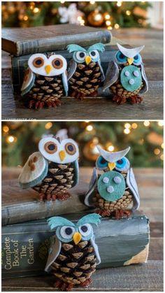 8. Pinecone Owls