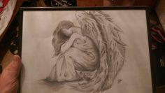 Angel drawing i did a few years back Angel Drawing, My Arts, Drawings, Sketch, Portrait, Drawing, Resim, Paintings, Doodle