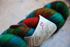 Must have this awesome color combo from Rohrspatz & Wollmeise.