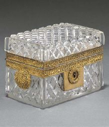 Empire ormolu-mounted cut-glass casket  CIRCA 1820