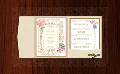 Items similar to POCKET MODEL_Custom Design&Color_Rustic Wedding Invitation_ Whimsical Pastels Invitation_ Handmade_ Make your own lovely original invitation on Etsy Diy Wedding, Rustic Wedding, Make Your Own, Rsvp, Custom Design, Whimsical, Wedding Invitations, Design Color, Frame