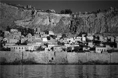 Water, rock and scrub. Monemvasia, a favourite spot. Monemvasia Greece, Corinth Canal, Places In Greece, Future Travel, Greece Travel, Tour Guide, Vacation Spots, Trip Planning, Paris Skyline