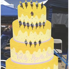 Giant birthday cake featuring your Relay For Life team's reasons to Relay!