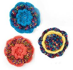 Flower Open Rose Pattern (Crochet)