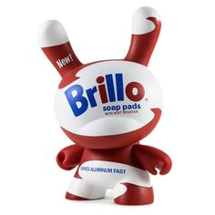 "Andy Warhol 8"" Masterpiece White Brillo Dunny - Kidrobot - 5"