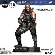 McFarlane Color Top Series Blue Wave Figures - Titanfall 2 - 7' Blisk