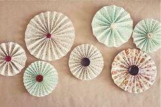 Pretty Pleated Pinwheels Decor