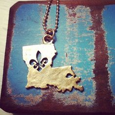 Louisiana Love Necklace by AnnaLivCustomJewelry on Etsy, $25.00