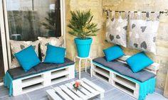 pallet meubels voor bv het balkon