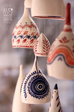 Porcelain pendants, The Awesome Project | AwesomeFolk by madalina andronic, via Behance