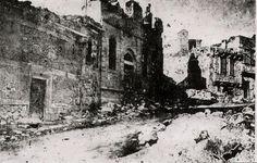 1918'de, Erzurum'da Ermenilerin, Türkleri içine doldurarak yaktıkları konak..