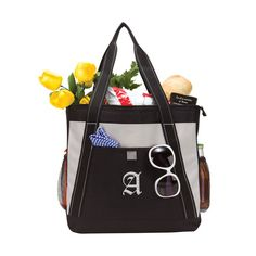 """City Chic Zippered Compartment Cooler Shoulder Bag Size: 14.5""""L x 14.75""""H x 5.5""""D What a way to go on a picnic with style. Who can resist this chic bag that can only impress. Made of 600D polyester. Large main zippered compartment holds up to 36 cans. An open front pocket. Dual side mesh pockets for water bottle. Padded PEVA lined with heat sealed interior. Dual soft shoulder straps."""