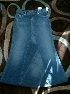 jean skirt by ModestyByAutumn on Etsy, $35.00