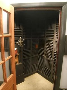 Transform a closet for a cost efficient recording studio. No more renting. Plus you have all the conveniences of working at home. Home studios are perfect for timid artists (like me) just starting out in their career.