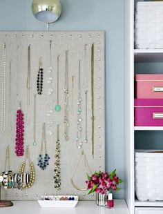 Great necklace organizer.