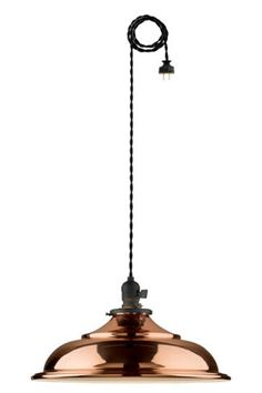 8 Copper Accessories Your Home Needs #refinery29  http://www.refinery29.com/copper-home-accessories#slide-3  Hang this handsome barn light over any kitchen table for that updated speakeasy look.