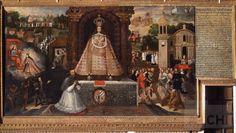 La Virgen de Belén con el obispo Gaspar de Mollinedo como donante | Basilio De Santa Cruz Pumacallao : Archivo Digital de Arte Peruano