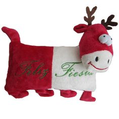Iconic Pet Reindeer (Red) Holiday Christmas Stuffed Plush Pet (Dog) Pillow Toy - Small - Size : 10Filled with high quality micro soft plush and it can be easily carried outdoors.These Reindeer pillows are not only a unique holiday gift for your dog but also a perfect Christmas home decor.These stuffed dog toys are cute and cuddly, which gives more fun to your dog during play time.It is a perfect dog gift for frozen fans during Christmas Season.This holiday dog plush toy available in two…