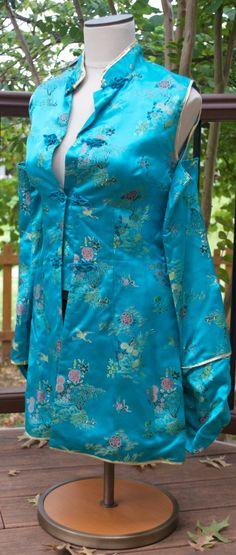 Turquoise Chinese Shirt von Chromartistry auf Etsy