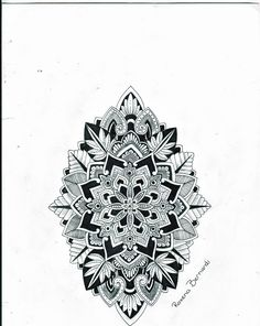 artistic mandala tattoos drawn by Roxena Bernardi | ... tattoo design 2013 2014 roxyloxy hand drawn mandala tattoo design