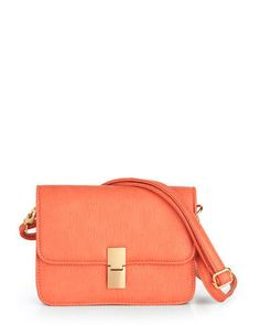 coral colored crossbody bag - this is one of my favorite colors to wear.  I hate orange but love coral