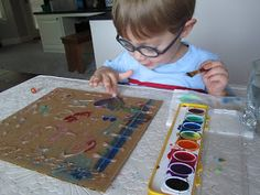 Play Create Explore: Painting Over Hot Glue Gun Designs