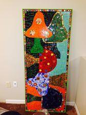 mosaic mushrooms. #Glass man