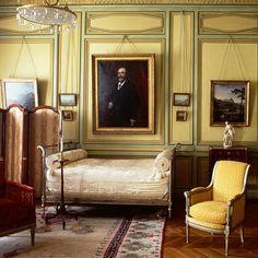 bedroom in the Musee Nissim de Camondo, Paris