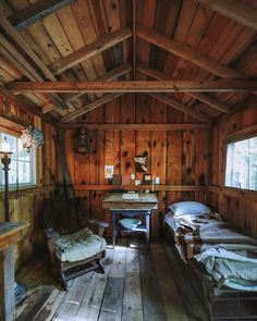 Is your dream cabin right next to a river like this? Log Cabin Living, Small Log Cabin, Tiny Cabins, Wooden Cabins, Tiny House Cabin, Cabins And Cottages, Cozy Cabin, Cabin Homes, Guest Cabin