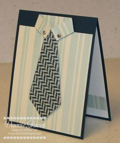 Shirt and Tie Card by DannieGrvs - Cards and Paper Crafts at Splitcoaststampers Masculine Birthday Cards, Birthday Cards For Men, Handmade Birthday Cards, Masculine Cards, Greeting Cards Handmade, Deco Cinema, Tarjetas Diy, Boy Cards, Fathers Day Cards