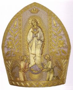 Miter of Pope Pius IX depicting the Immaculate Conception