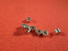 46 Spacer Perlen Metall silberfarben glatte Röhre 27 Gramm 5 mm - Z 126