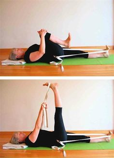 Use a strap around your hip crease to free your groins: Five Minute Yoga Challenge - Five-Minute Yoga