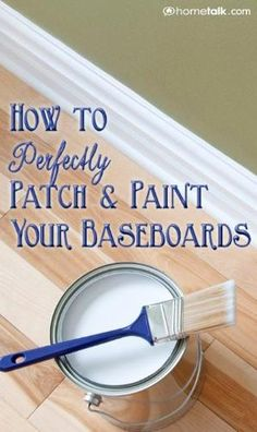 How to Perfectly {Patch & Paint} Your Baseboards! 1 1 Lois Coleman Stuff to Try Pin it Send Like Learn more at hometalk.com hometalk.com from Hometalk How to Frame a Builder Grade Bathroom Mirror Upgrade your bathroom mirror from boring to beautiful! It's simple and cheap! Nicole Cannady Bathroom Pin it Send Like Learn more at inmyownstyle.com inmyownstyle.com from In My Own Style My Foyer Staircase Makeover Reveal Update a carpeted staircase to stained steps and white painted risers for…