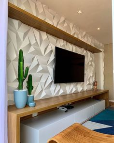 30 TV Stands And Wall Units To Organize And Stylize Your Home - Modern Built In Tv Wall Unit Designs for your home. Living Room Partition Design, Living Room Tv Unit Designs, Tv Wall Design, Modern Tv Room, Modern Tv Wall Units, Home Living Room, Living Room Decor, Tv Unit Interior Design, Home Tv